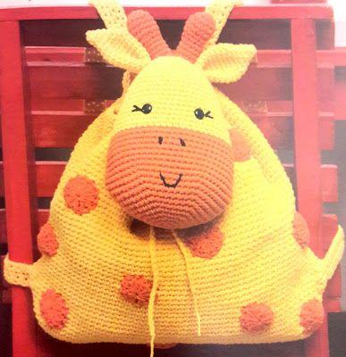 Mochila Jirafita - Amigurumi - Patrón Español ~ Crochet para Ti
