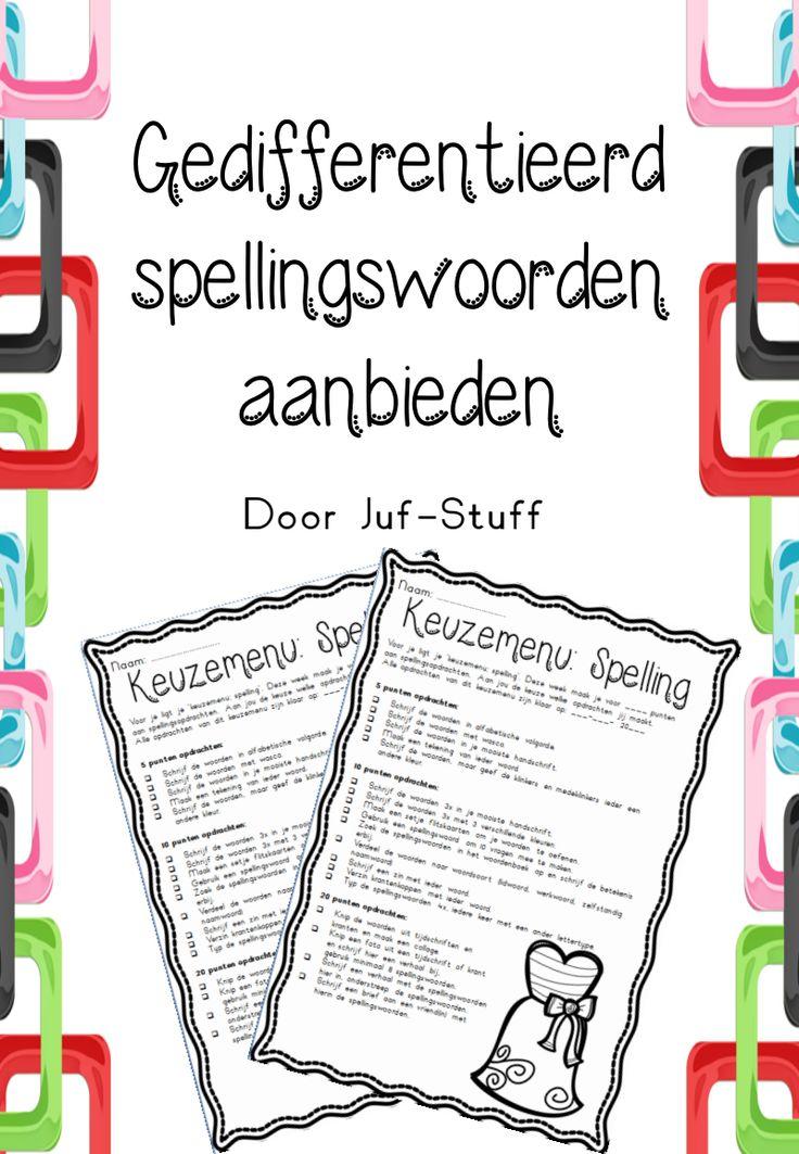 Spellingswoorden aanbieden