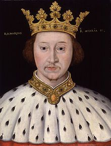 Richard II (6 January 1367 – ca. 14 February 1400) was King of England from 1377 until he was deposed in 1399. Richard, a son of Edward, the Black Prince