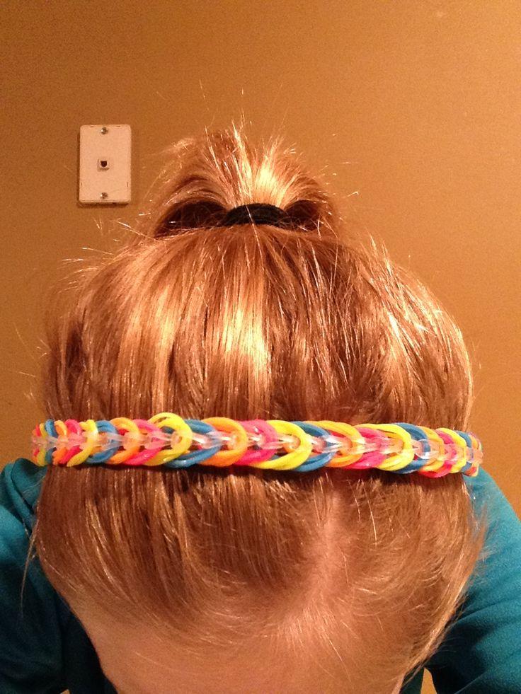 Rainbow Loom Triple Band Headband Kids Crafts