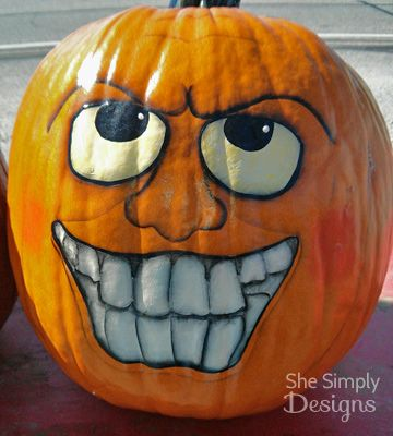 halloween pumpkin faces pinteres - Halloween Pumpkin Faces Ideas