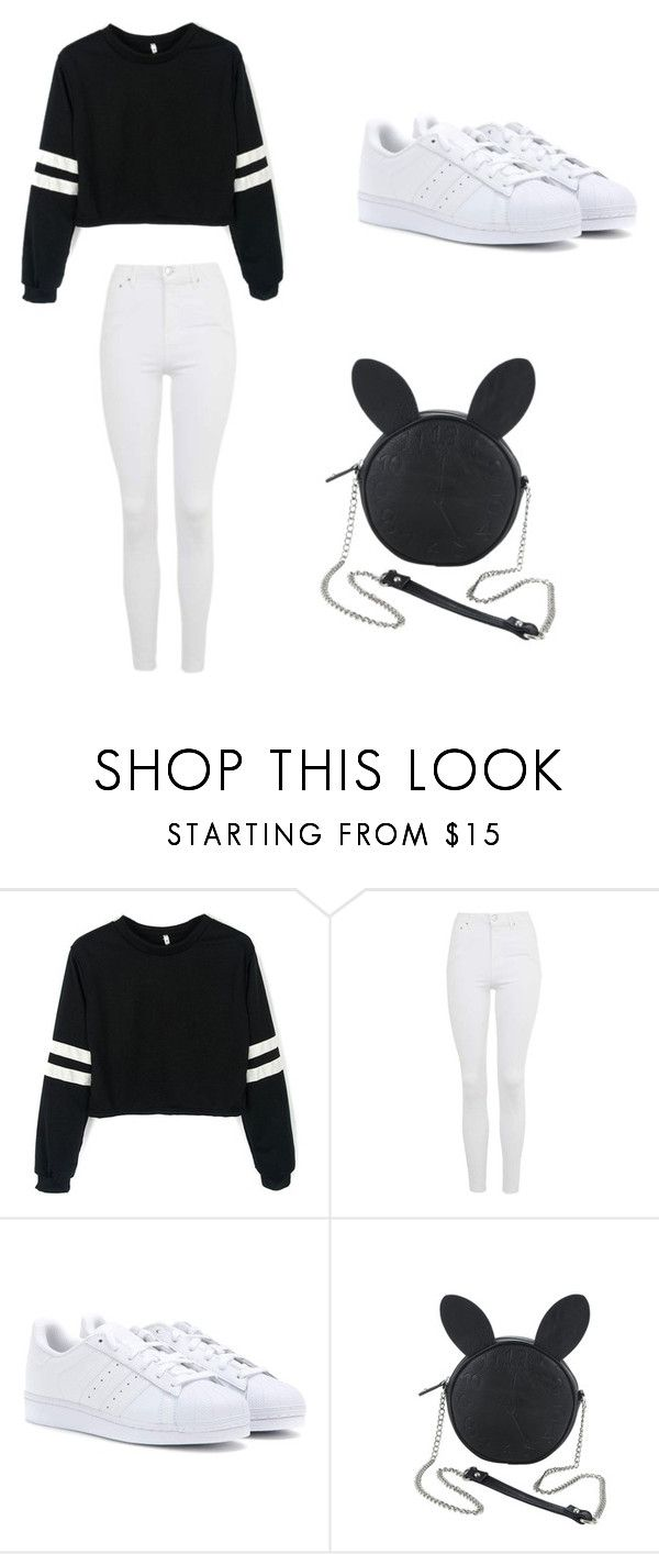"""Untitled #327"" by kpop247 on Polyvore featuring Topshop, adidas and Disney"