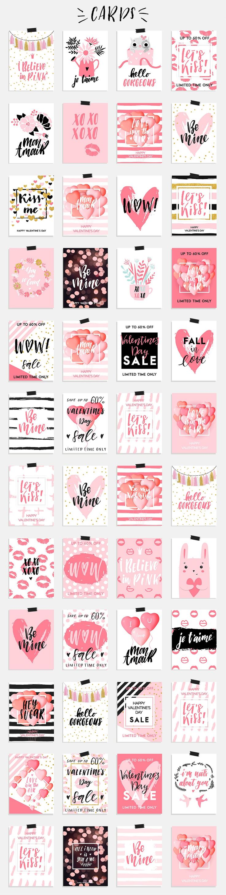 Valentine's Day big collection - cards, tags, overlays, seamless patterns and much more. Hand drawn elements and lettering made with love to decorate gifts for your loved ones.