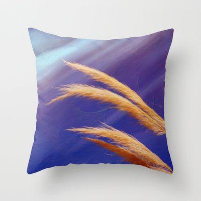 Fox tails Throw Pillow by Oscar Tello Muñoz - $20.00
