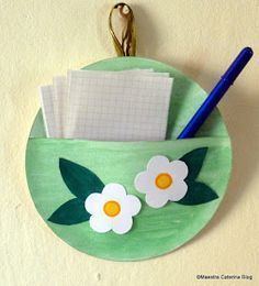 Cerchio e semicerchio... facile e veloce questo porta appunti da regalare alla mamma!