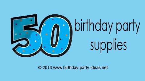 50th Birthday Party Supplies #50th #birthdaysupplies #birthday #partypack