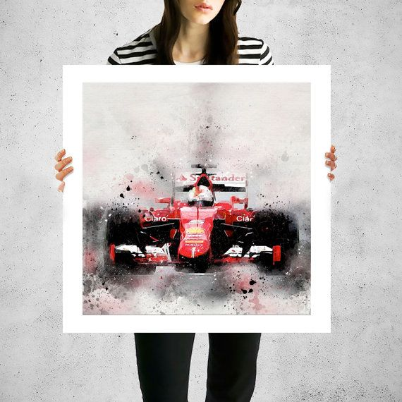 Ferrari painted canvas art Formula 1 F1 F1 racing formula