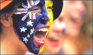 Cheering on a sports team or athlete. Aussies love our sport #AustraliaDayOnboard