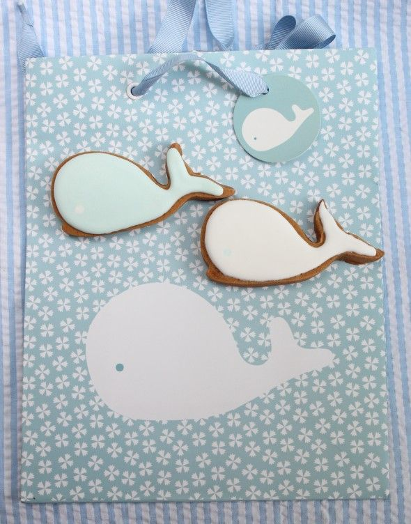 baby whale gift bag and cookies