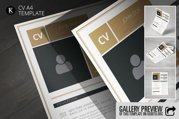 CV A4 Template by Keboto on @creativemarket