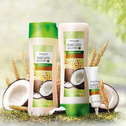 Nature Secrets Shampoo for Dry and Damaged Hair Wheat & Coconut. Just awesome. Only a few drops works beautifully. Leaves hair smooth and no frizz.