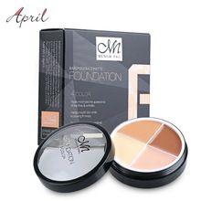 Pro Concealer cartilha creme Facial Contour Palette Kit maquiagem Facial tampa de contorno maquiagem paletas Corrector Base da fundação alishoppbrasil