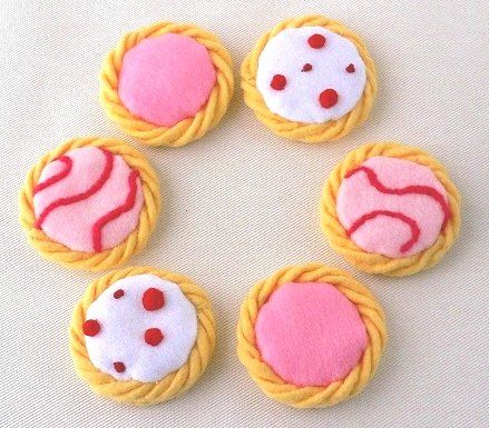 フェルトのお菓子とパン製作日記(画像あり) | クッキー生地, お菓子, 菓子