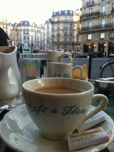 The most satisfying thing in the world is to sit in a small café in Paris and drink hot chocolate while people watching. HEAVEN.