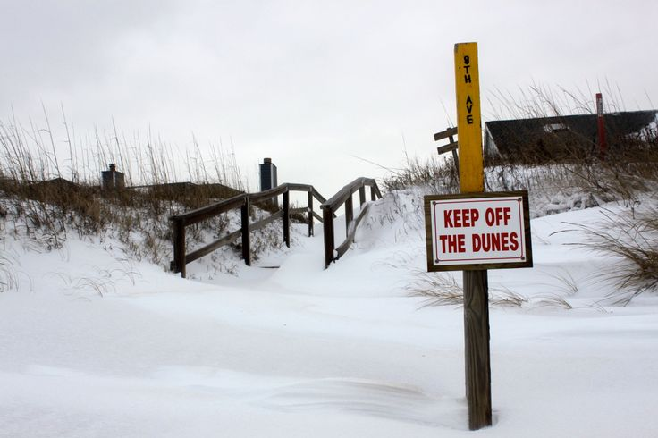 Snowstorm on the Outer Banks of North Carolina :: January 29, 2014 :: #SnOBX