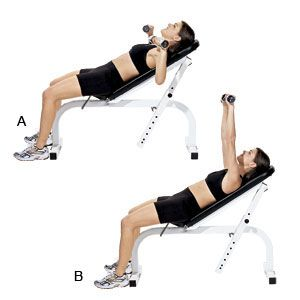 incline dumbbell bench press2  circuit workout gym bench