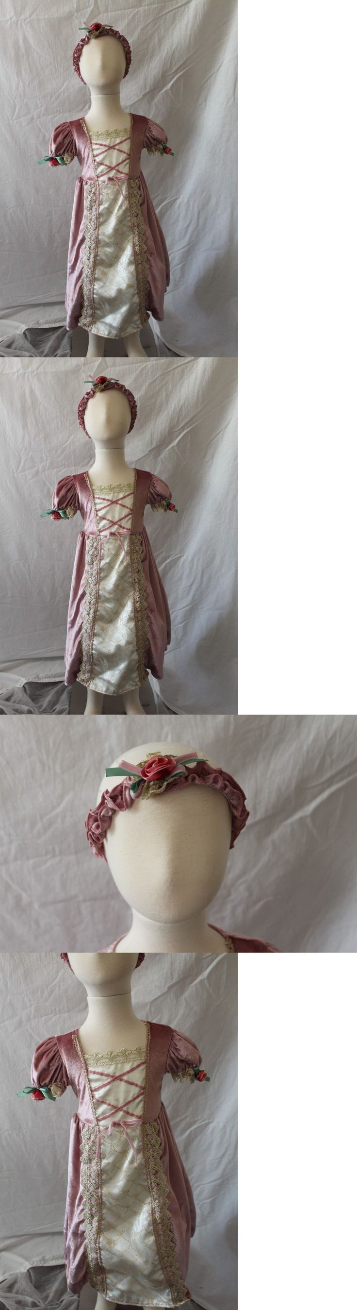 Kids Costumes: Renaissance Princess Lady Rose Toddler Girls Costume 2T Dress Headband New BUY IT NOW ONLY: $36.88