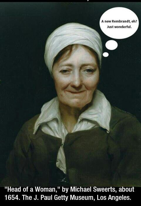 """""""Head of a woman"""" by Michael Sweerts"""