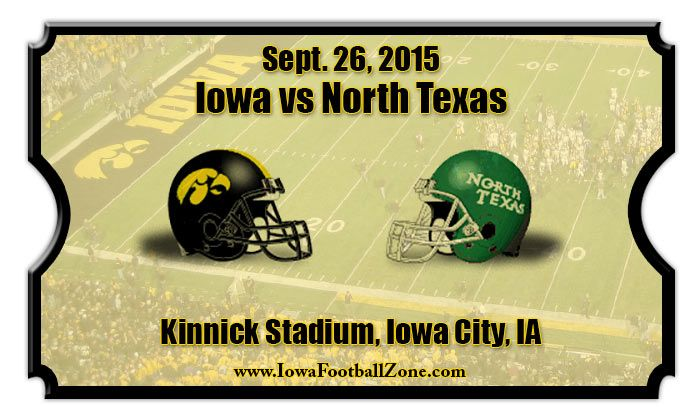 Iowa Hawkeyes vs North Texas Mean Green Football Tickets | Sept ...