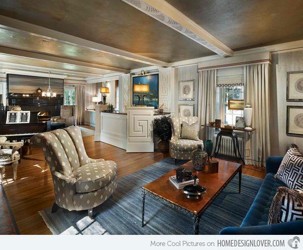 15 Art Deco Inspired Living Room Designs InteriorsModern