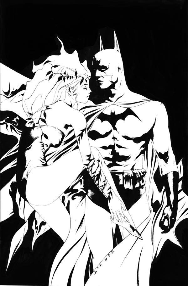 Batman and Poison Ivy by Jae Lee