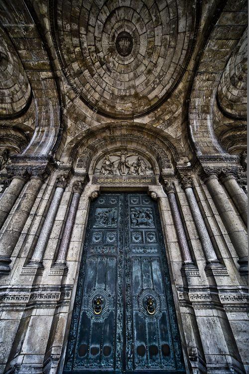 Photographic art - architectural.  Basilica Sacre-Coeur, Montmartre, Paris.