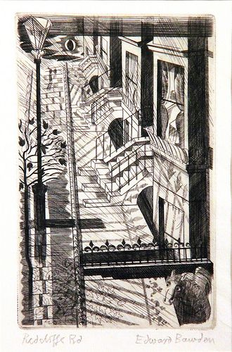 """""""Redcliffe Road"""" by Edward Bawden, 1927-9 (copper engraving)"""