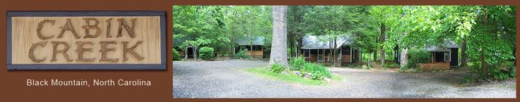 Cabin Creek Lodge, Black Mountain, NC Rustic Vacation Rental Cabins Creekside Pet Friendly, Family Reunion, Retreats, Groups up to 50