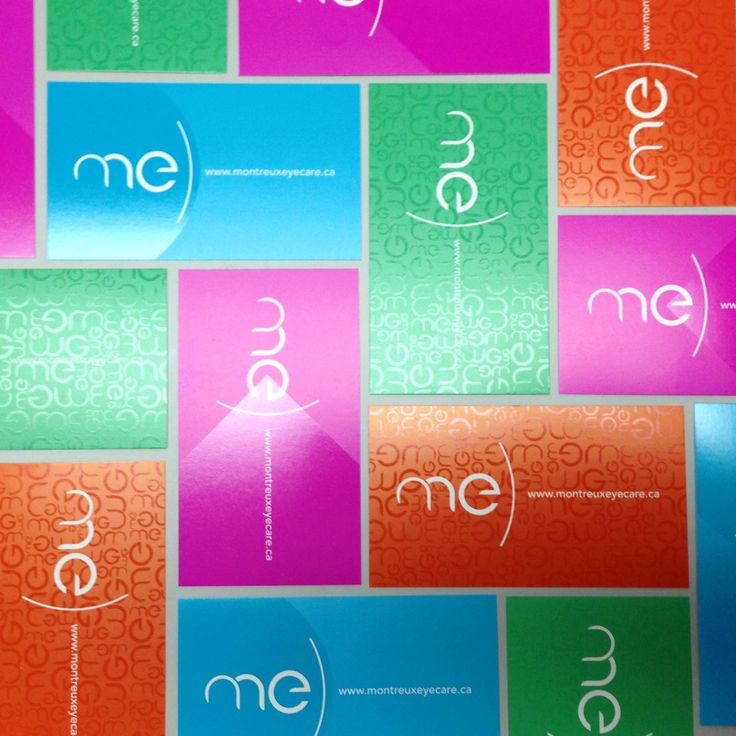 Montreux Eyecare business cards