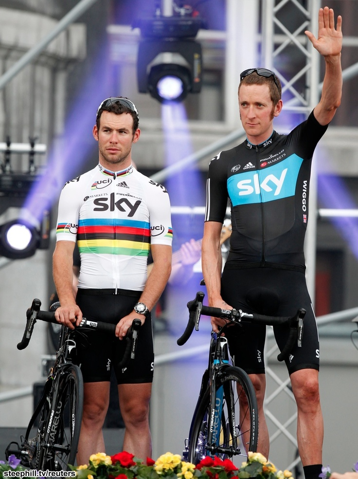 Green Jersey favorite, Mark Cavendish and GC favorite, Bradley Wiggins