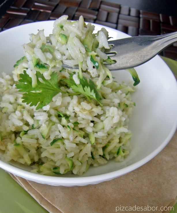 Arroz con zucchini y queso – www.pizcadesabor.com