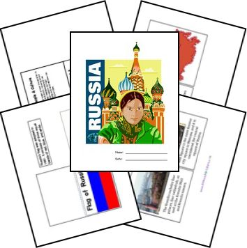Russia Country Lapbook - Free