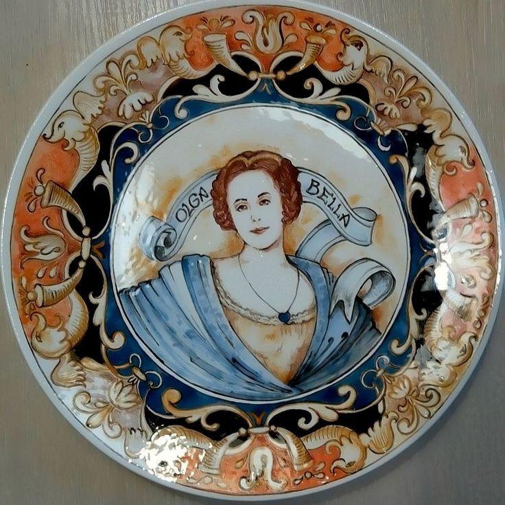 Декоративная подарочная тарелка в стиле Ренессанс с гротесками