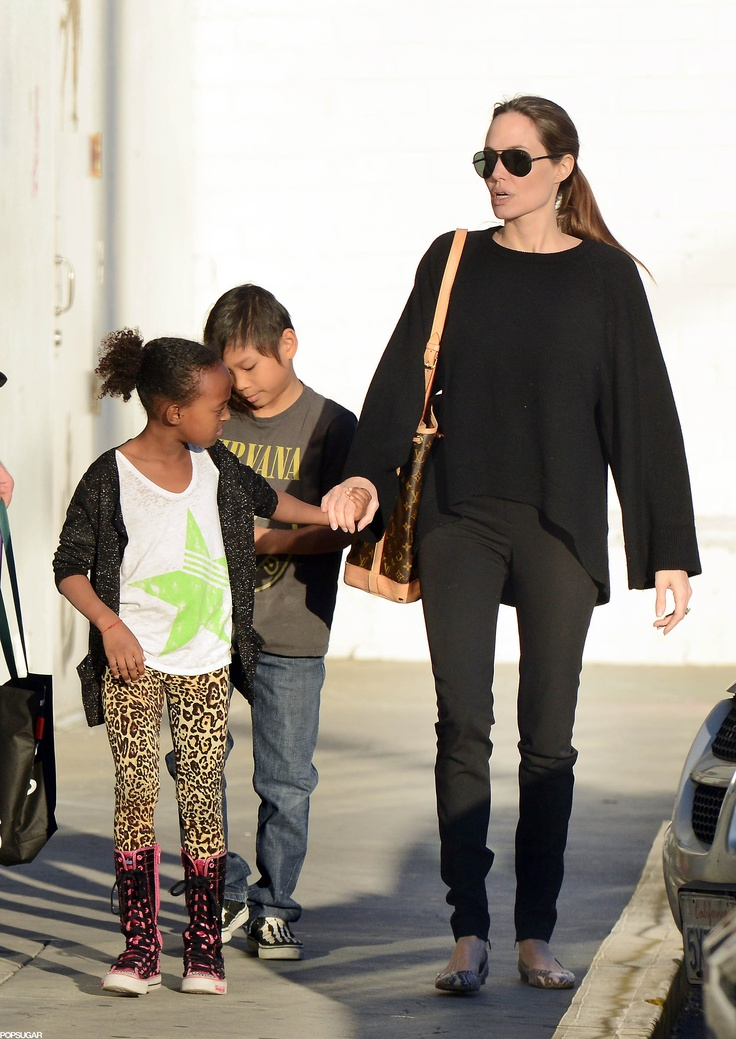 Angelina Takes Zahara and Pax on a Pre-Valentine's Day Shopping Trip | Pictures & Details