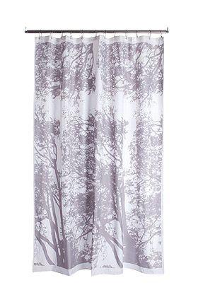 Tuuli grayTuuli Shower, Contemporary Shower, Hypothet House, Trees Prints, House Bathroom, Home Decor, Bathroom Ideas, Prints Shower, Shower Curtains
