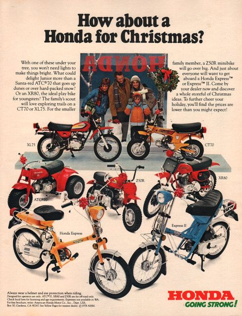1978 Honda motorcycle print ad Play bikes for children by Vividiom, $9.00