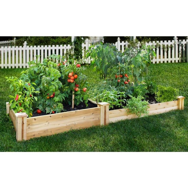 Greenes Fence 48 in. x 96 in. Cedar Raised Garden BedRC
