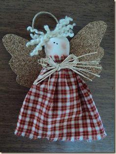 Anjinho Country Anjinhos para decoração de árvore de natal ou lembrancinha.