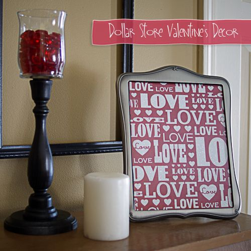 DOLLAR TREE HOME DECOR IDEAS   Top Twelve Valentine's Projects {party features} - Fox Hollow Cottage