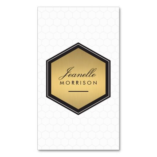 160 best business cards for catering companies chefs and elegant gold honeycomb badge business card reheart Choice Image