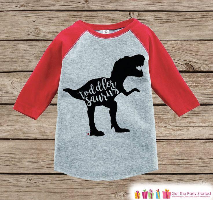 Toddler Dinosaur Shirt - Toddlersaurus - Kids Red Raglan Shirt - Kids Baseball Tee - Dinosaur Shirt - Toddler, Youth - Girl or Boys Shirt