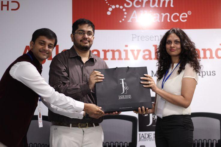 Mr. Sagar Setia, fecilitating Ms. Deepti Jain at agile carnival....