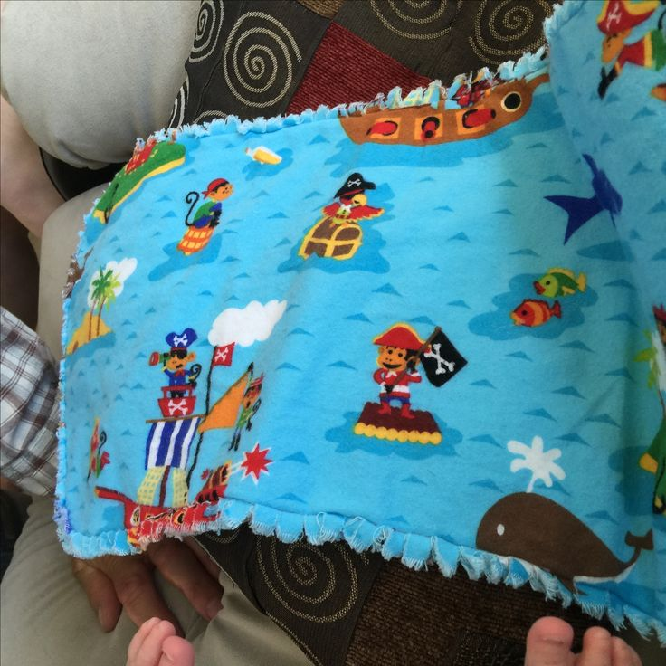 One of the burp bibs I made for our granddaughter Piper in 2015