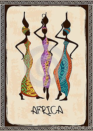 Illustration with three beautiful African women by Annykos, via Dreamstime
