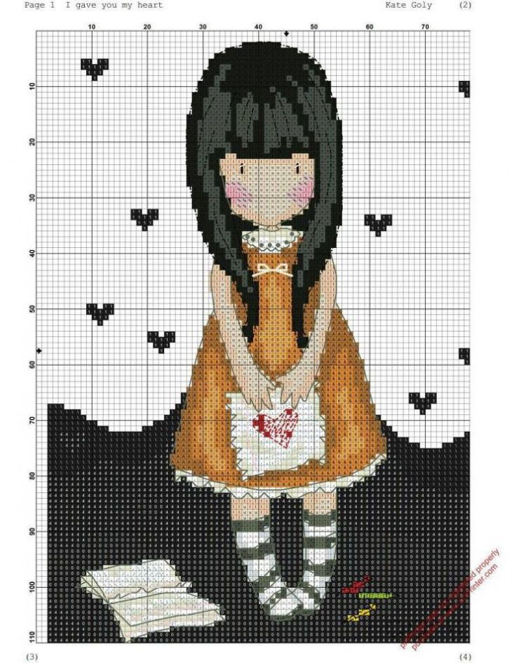 Gorjuss cross stitch pattern