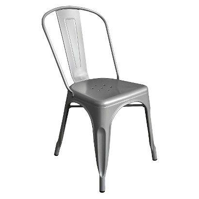 AEON Garvin Galvanized Steel Chair   Lime (Set Of 2)