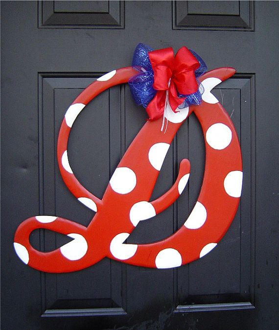 Ole Miss Wooden Letter D Door Hanger by RKDragonfly on Etsy, $44.95
