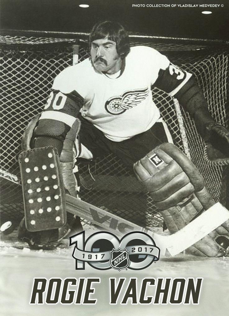 """Роги ВАШОН - голкипер """"Детройт Ред Уингз"""" в сезонах 1978-80 г.г. #вратарь #хоккей #нхл #goaltender #nhl #DetroitRedWings"""