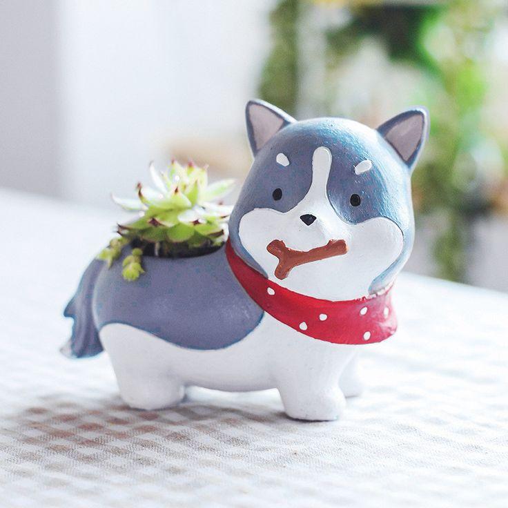Mini Husky Planter Pot