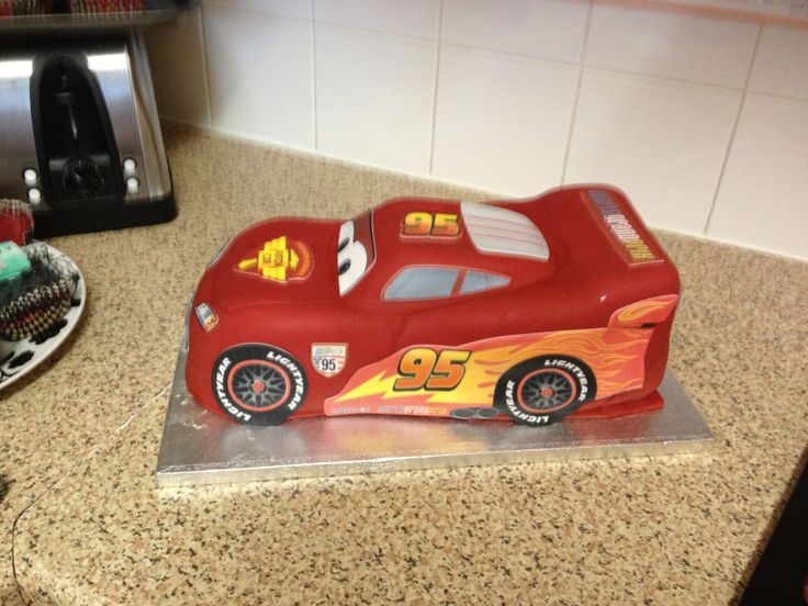 Asda Photo Cake Decorations : Asda Lightning Mcqueen cake Birthday cake ideas for Toby ...